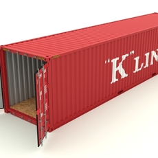 Shipping container K Line 3D Model