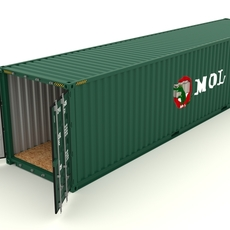Shipping container MOL 3D Model