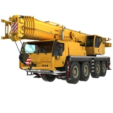 crane liebherr rigged 3D Model
