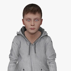 Young Boy Animated 3D Model