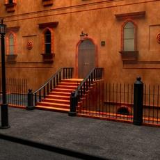 New York City Fancy Building Facade 3D Model