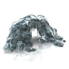 Ice cave entrance 3D Model