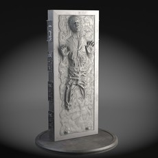 Star Wars Han Solo in Carbonite 3D Model