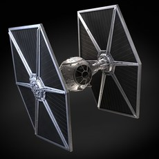 Star Wars Tie Fighter with Interior 3D Model