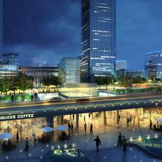 commercial Plaza 058 3D Model