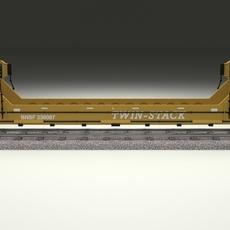 Yellow Train Well Car 3D Model