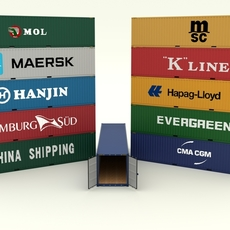 Shipping Container Collection 3D Model