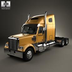 Freightliner Coronado Tractor Truck 2009 3D Model