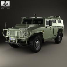 GAZ Tiger-M 2011 3D Model