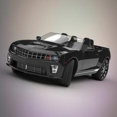 Camaro convertible car 3D Model
