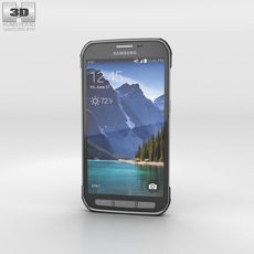 Samsung Galaxy S5 Active Titanium Grey 3D Model