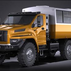 GAZ Ural Next 2015 Rotational Bus 3D Model