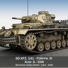 Panzer III - PzKpfw III - Ausf.G - 314 3D Model