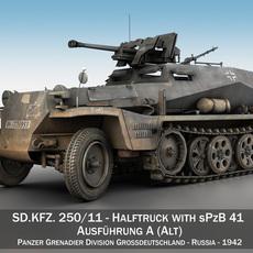 SSD.KFZ 250/11 - Halftruck with sPzB 41 - PzGrenDiv 3D Model