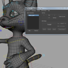 Shape Animation Tool for Maya 1.2.0 (maya script)