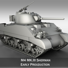 M4 Sherman MK III - British army 3D Model