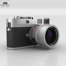 Leica M Monochrom Silver 3D Model