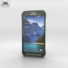 Samsung Galaxy S5 Active Camo Green 3D Model