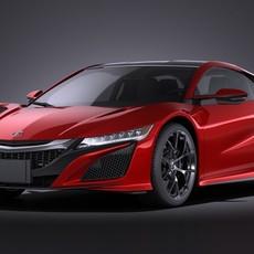 Acura NSX 2016 VRAY 3D Model