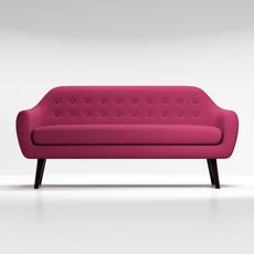 Sofa Ritchie purple 3D Model