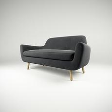 Sofa Jonah dark grey 3D Model