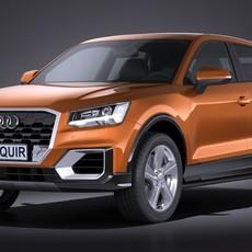 Audi Q2 2017 3D Model