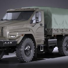 GAZ Ural Next 2015 Military 3D Model