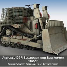 Israeli Armored D9R Bulldozer 3D Model