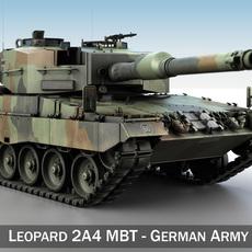 Leopard 2A4 MBT - Germany 3D Model