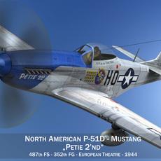 North American P-51D Mustang - Petie 2nd 3D Model