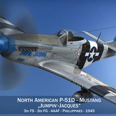 North American P-51D Mustang - Jumpin Jacques 3D Model