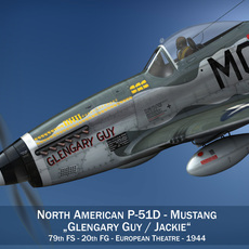 North American P-51D Mustang - Glengary Guy 3D Model