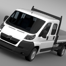 Citroen Relay Crew Cab Truck 2009-2014 3D Model