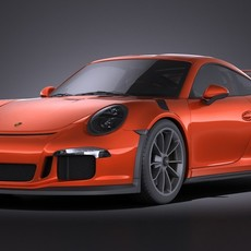 Porsche 911 GT3RS 2016 VRAY 3D Model