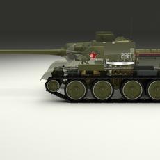 SU 100 Interior/Engine Bay Full 3D Model