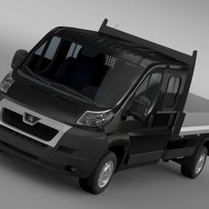 Peugeot Boxer Crew Cab Truck 2009-2014 3D Model