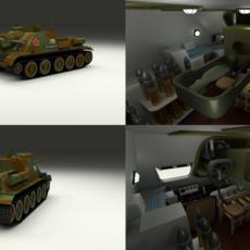SU 100 with Interior Camo 3D Model