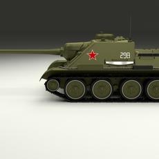 SU 100 Tank Destroyer 3D Model