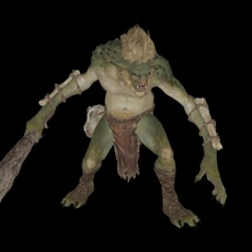 Troll Animated 3D Model