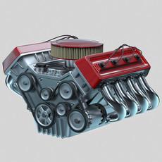 Car engine - Animated 3D Model