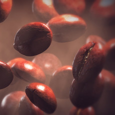Coffee beans set 3D Model