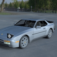 Porsche 944 S2 with Interior HDRI 3D Model