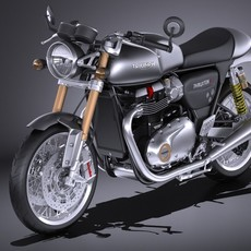 Triumph Thruxton R 2016 3D Model