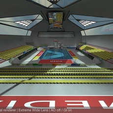 Diving Centre Sport Complex Ready to Render 3D Model