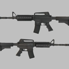 M4A1 Assault rifle with hard case 3D Model