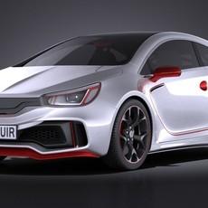 Generic Sport Hatchback 2016 3D Model