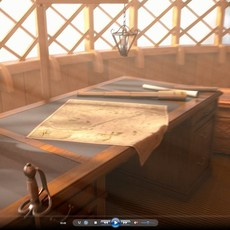 Old Ship Cabin 3D Model