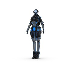 Sci-Fi Female Character 1 3D Model