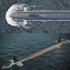 Virginia submarine 3D Model