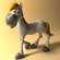 Cartoon horse RIGGED and Animated 3D Model